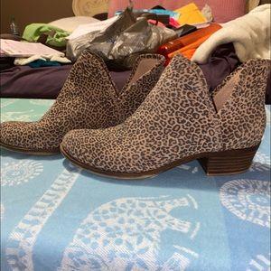 Lucky Brand cheetah print booties